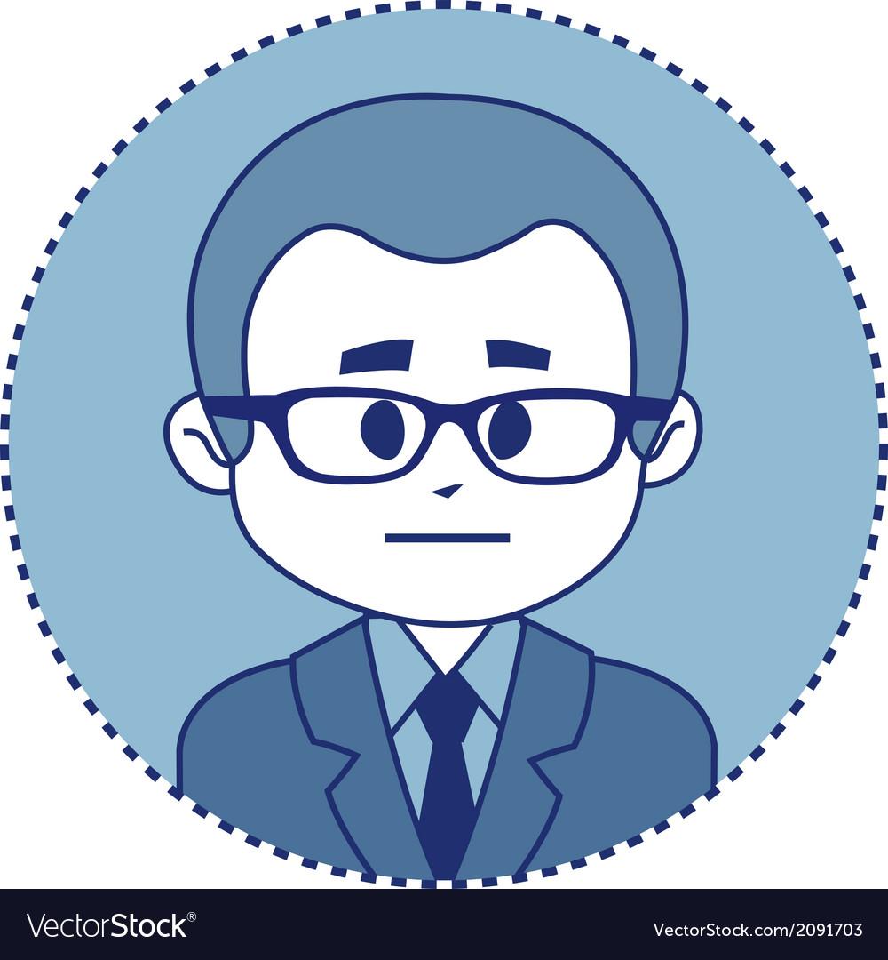 Character financier in suit with tie vector | Price: 1 Credit (USD $1)