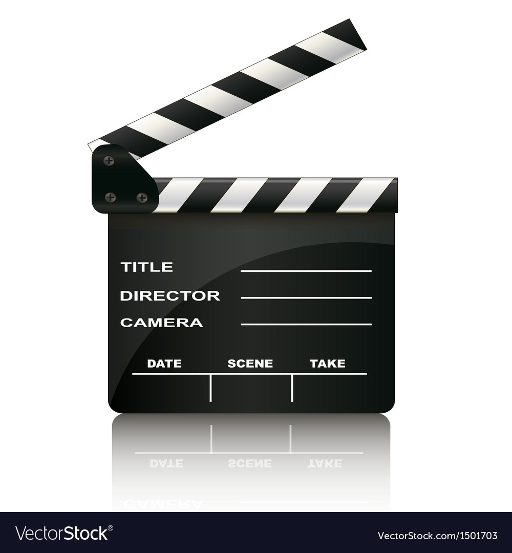 Clapper board isolated on white background vector | Price: 1 Credit (USD $1)