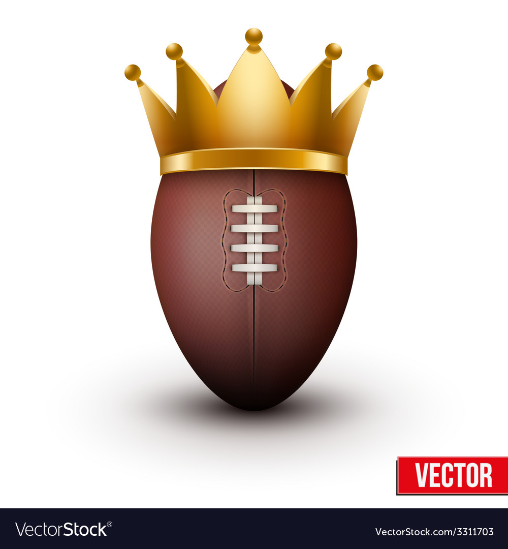 Classic rugby ball with royal crown vector | Price: 1 Credit (USD $1)