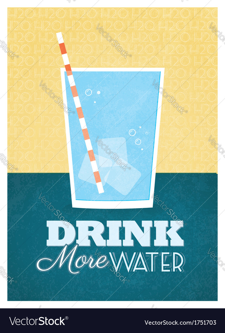 Drink more water vector | Price: 1 Credit (USD $1)