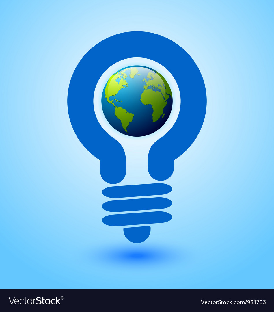 Lightbulb earth vector | Price: 1 Credit (USD $1)