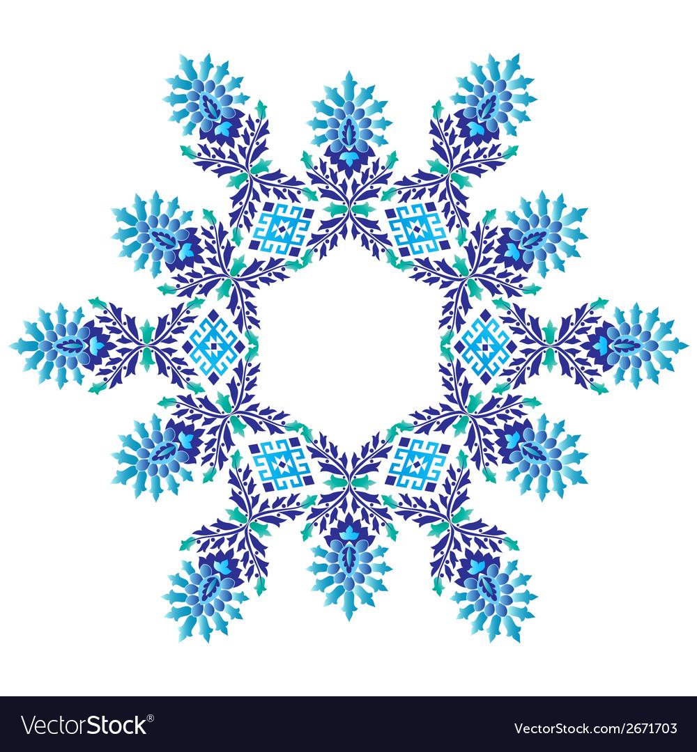 Ottoman motifs design series seventy five vector | Price: 1 Credit (USD $1)
