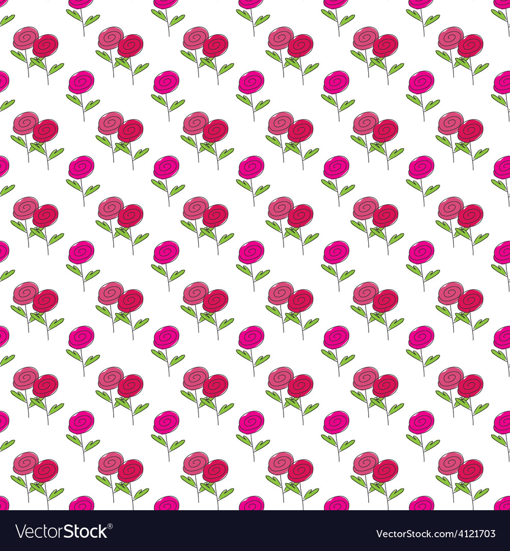 Rose flower pattern vector | Price: 1 Credit (USD $1)