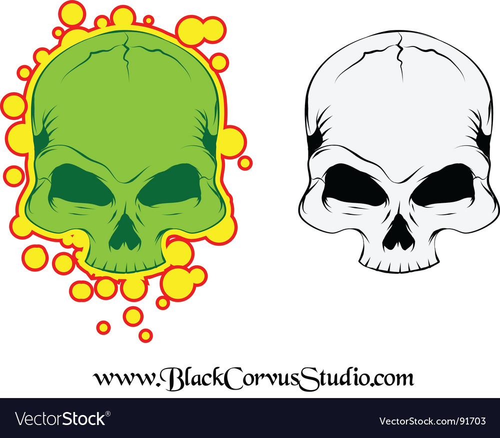 Tattoo skull vector | Price: 1 Credit (USD $1)