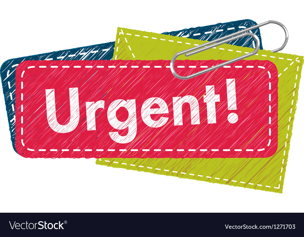 Urgent letter vector | Price: 1 Credit (USD $1)