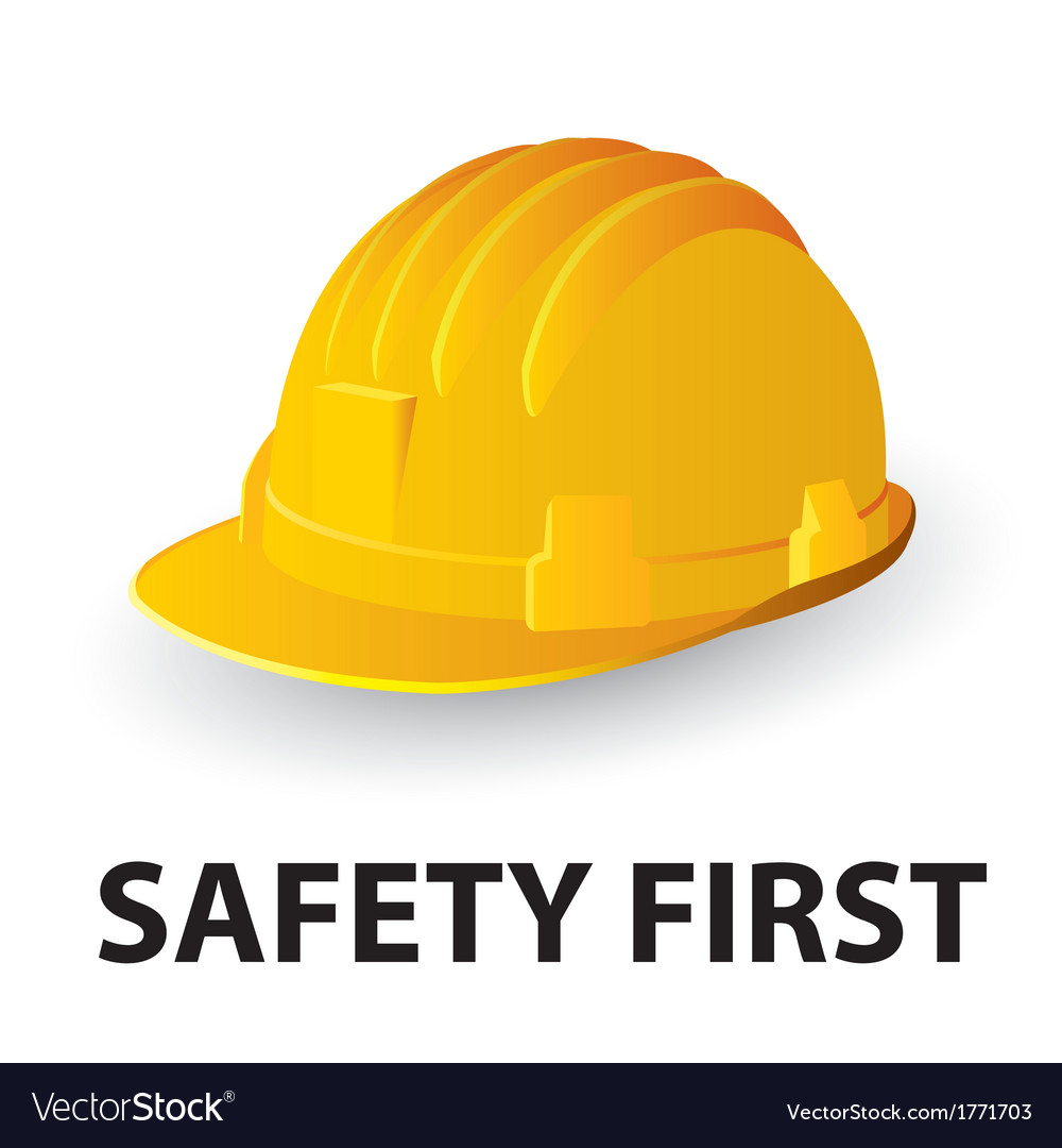 Yellow safety hard hat vector | Price: 1 Credit (USD $1)