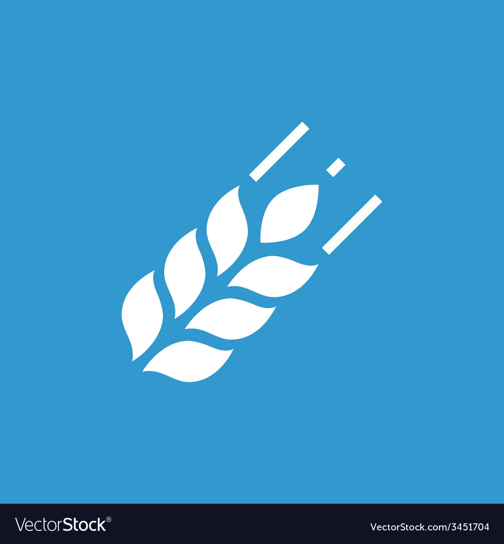 Agriculture icon white on the blue background vector | Price: 1 Credit (USD $1)
