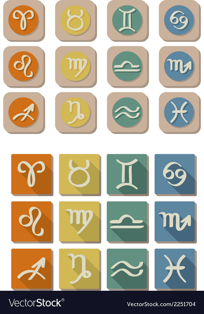 All zodiac symbol icon vector | Price: 1 Credit (USD $1)
