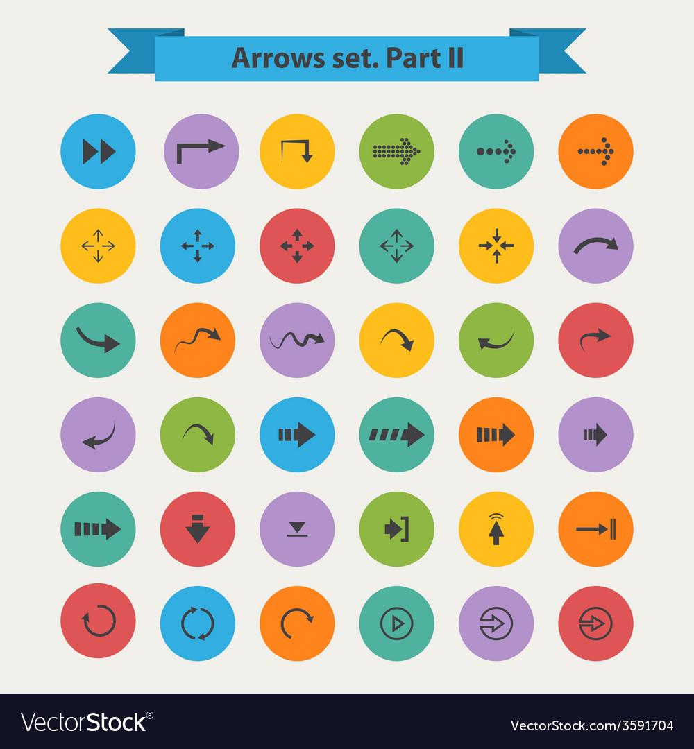 Big black set arrows in flat style vector | Price: 1 Credit (USD $1)