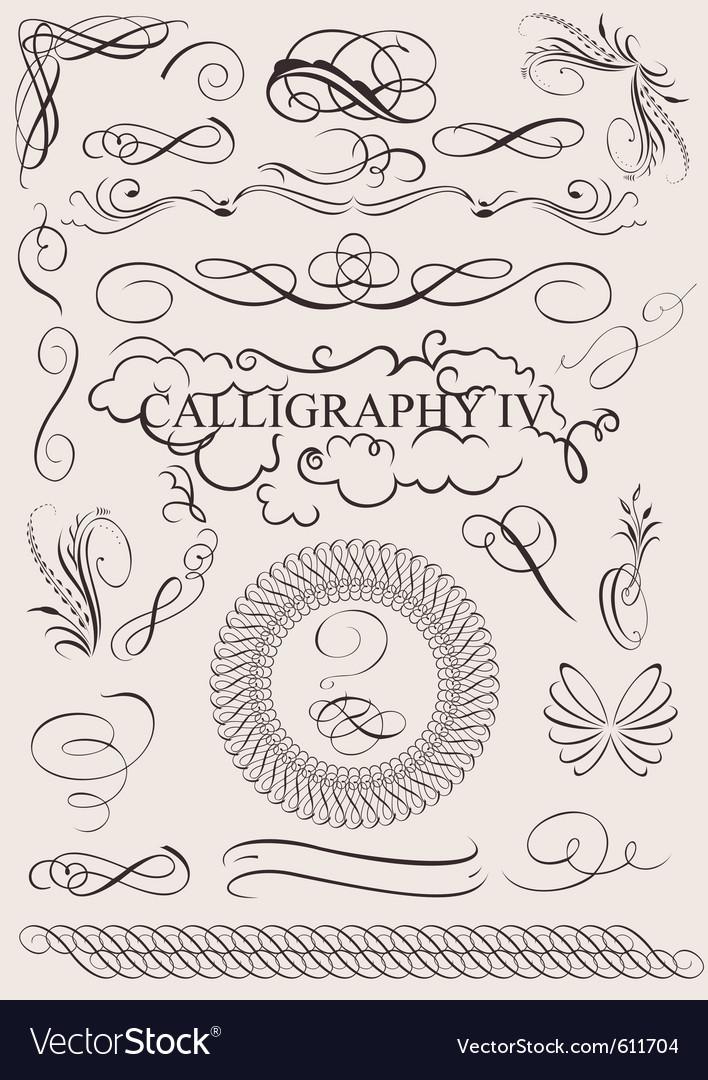 Calligraphic design vector | Price: 1 Credit (USD $1)