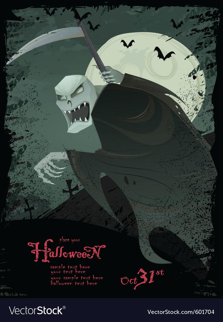 Halloween grim reaper template vector | Price: 1 Credit (USD $1)