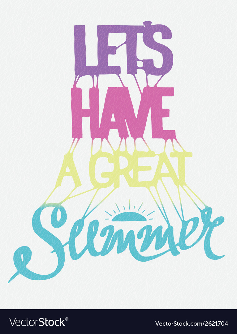 Hand drawn summer poster vector | Price: 1 Credit (USD $1)