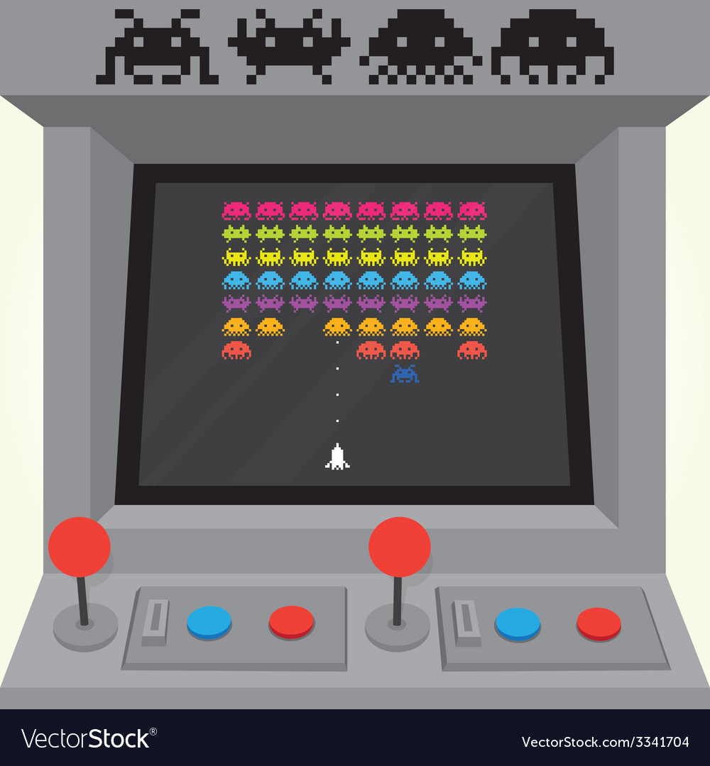 Invaders arcade machine vector | Price: 1 Credit (USD $1)