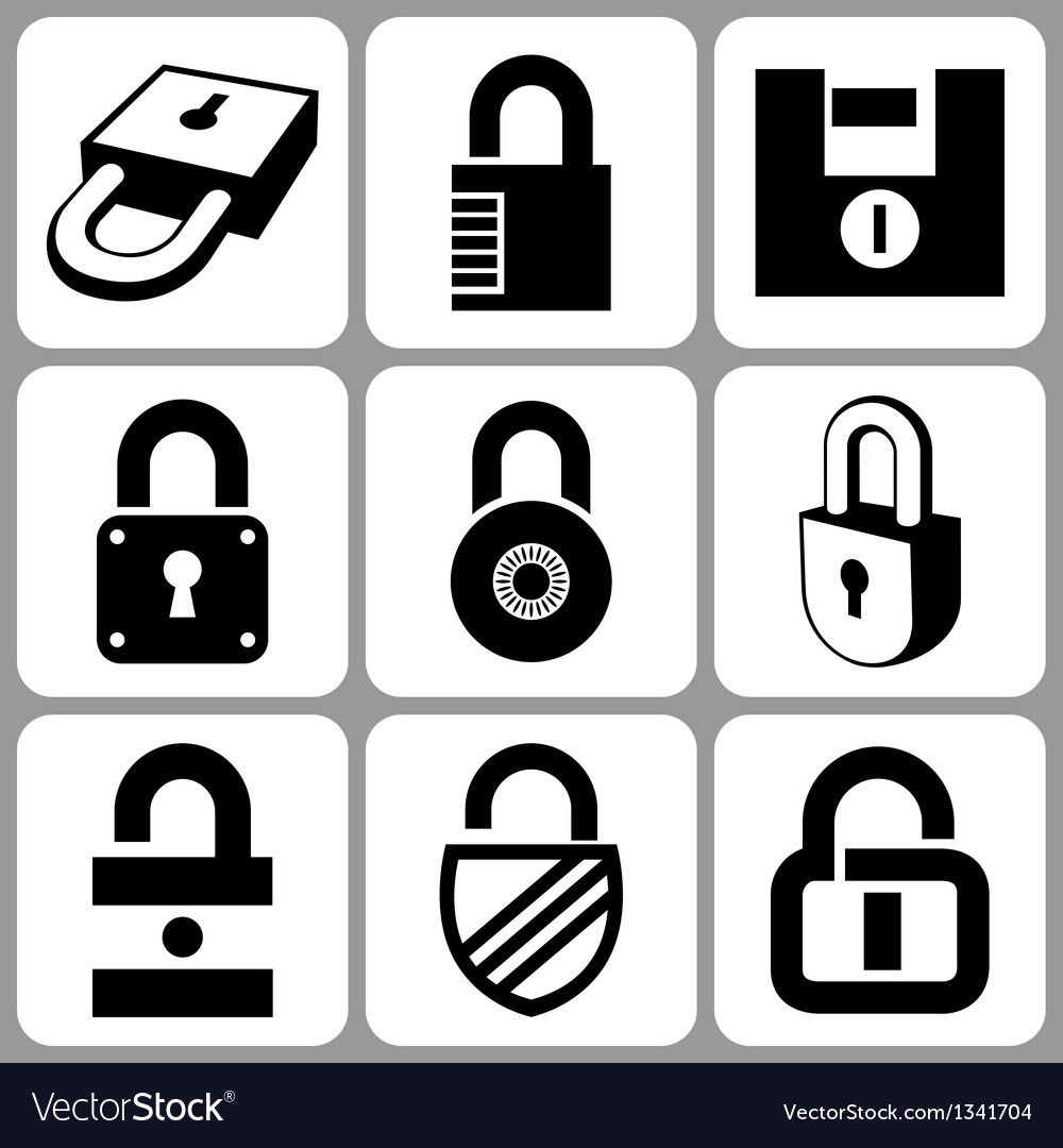 Lock icons set vector | Price: 1 Credit (USD $1)
