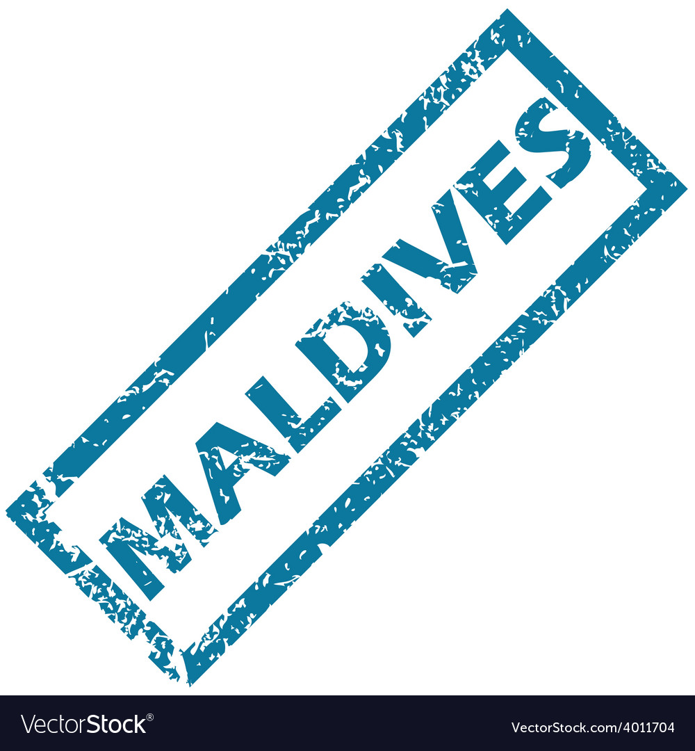 Maldives rubber stamp vector | Price: 1 Credit (USD $1)