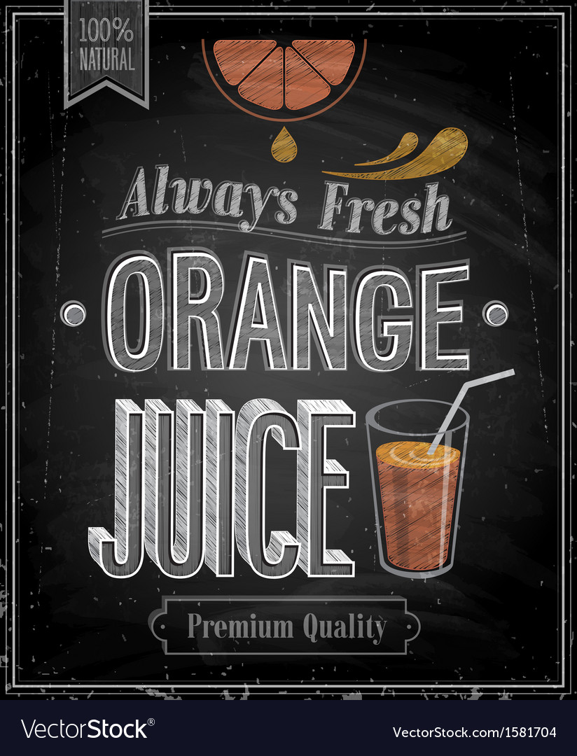Orange juice chalk vector | Price: 1 Credit (USD $1)