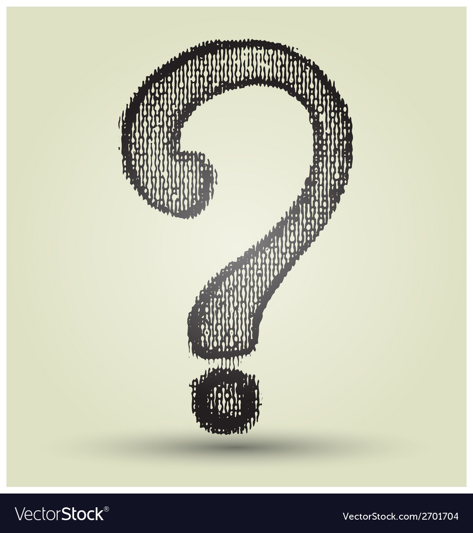 Question mark drawing vector | Price: 1 Credit (USD $1)