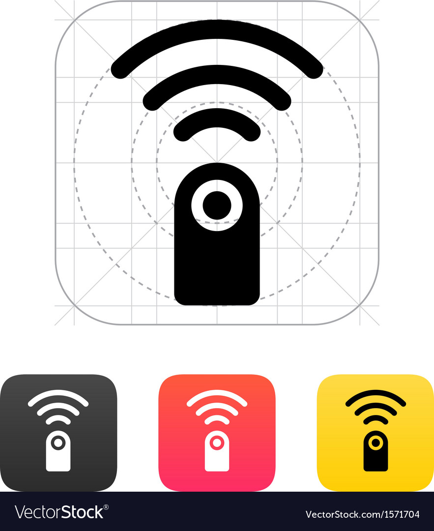 Remote control icon vector | Price: 1 Credit (USD $1)