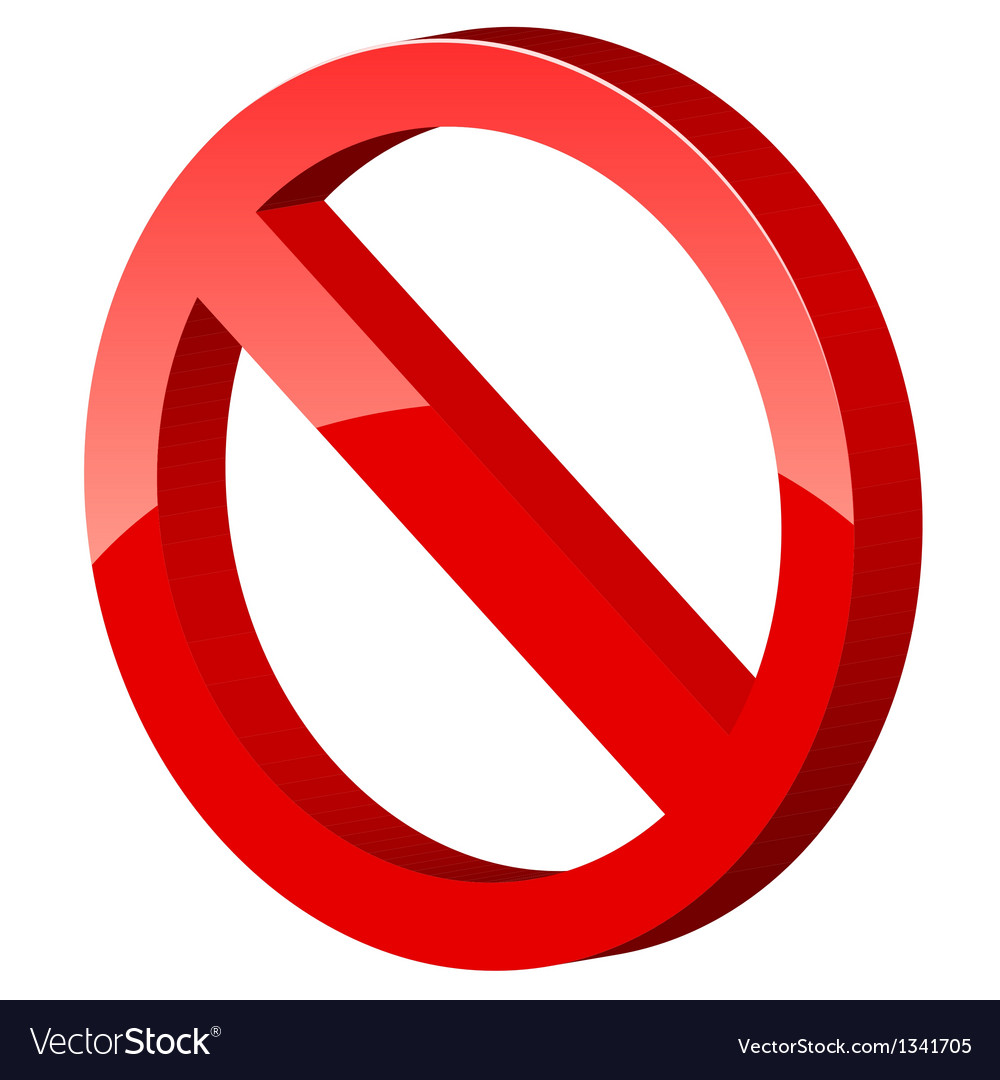 3d forbidden sign vector | Price: 1 Credit (USD $1)
