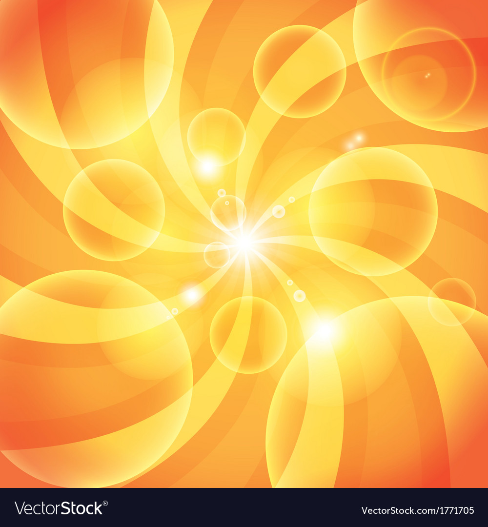 Abstract orange sun light background vector | Price: 1 Credit (USD $1)