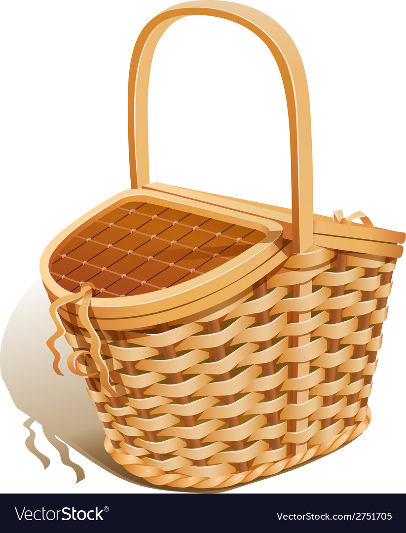 Basket for picnic vector | Price: 1 Credit (USD $1)