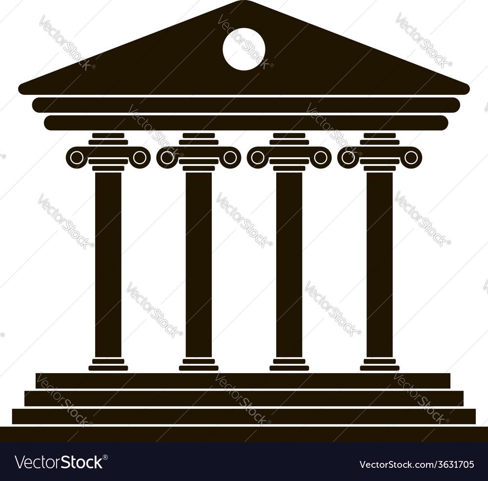 Black greek colonnade vector | Price: 1 Credit (USD $1)
