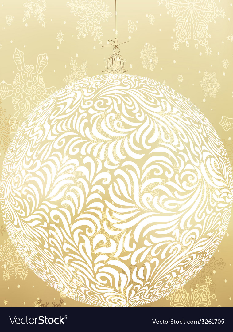 Christmas golden ball vector | Price: 1 Credit (USD $1)