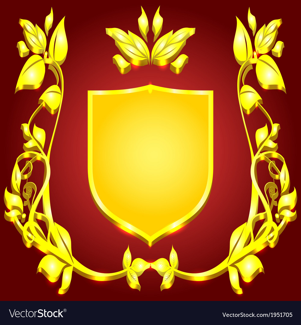 Coat of arms gold monogram vector | Price: 1 Credit (USD $1)