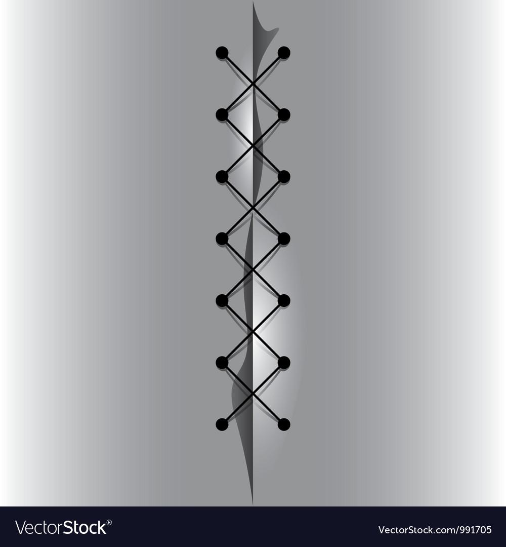 Cross linked thread seam vector | Price: 1 Credit (USD $1)