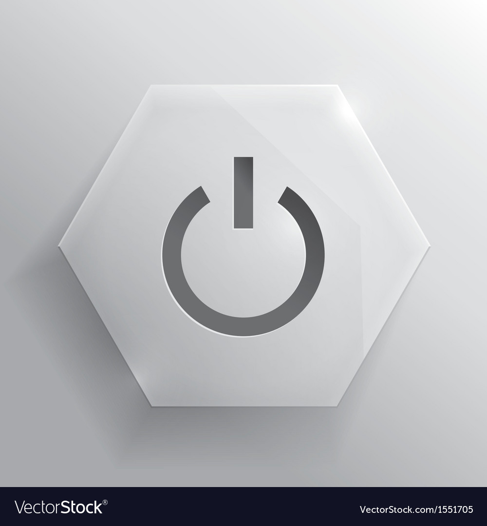 Glass button power button vector | Price: 1 Credit (USD $1)