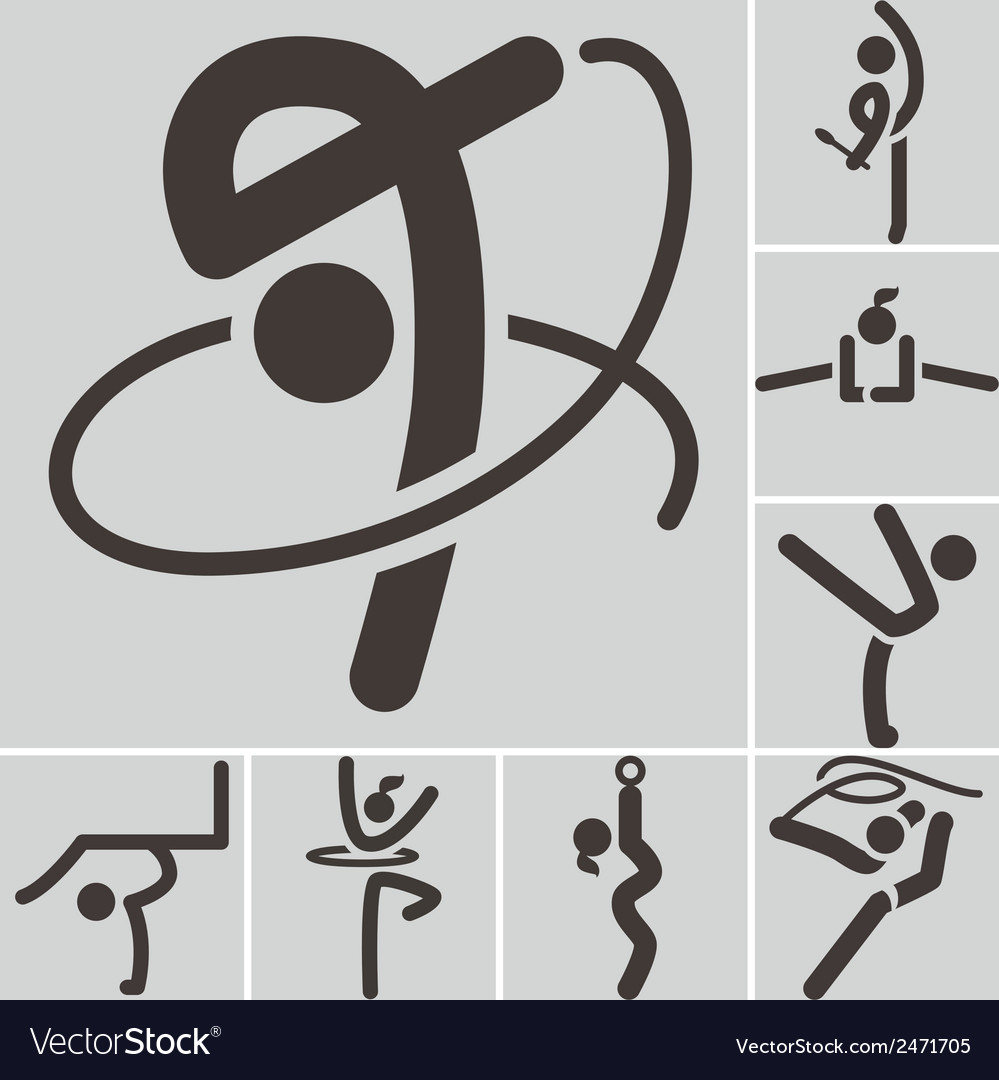 Gymnastics rhythmic icons vector | Price: 1 Credit (USD $1)