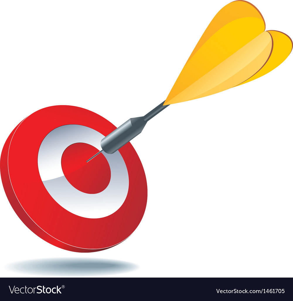 Icon target dart vector | Price: 1 Credit (USD $1)