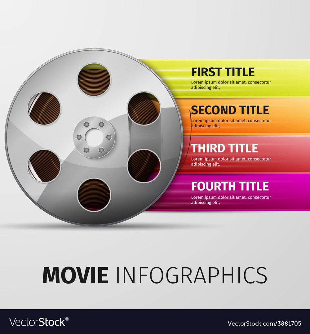 Movie infographics vector | Price: 1 Credit (USD $1)