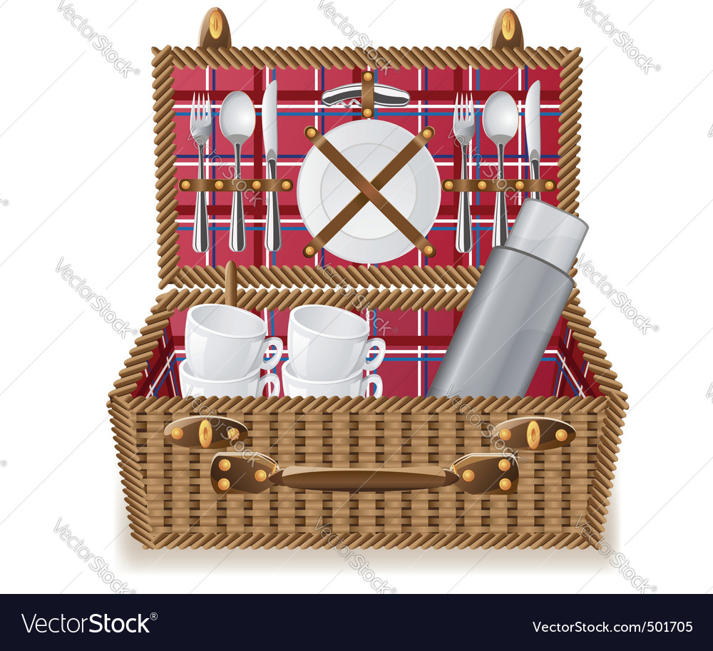 Picnic basket vector | Price: 3 Credit (USD $3)