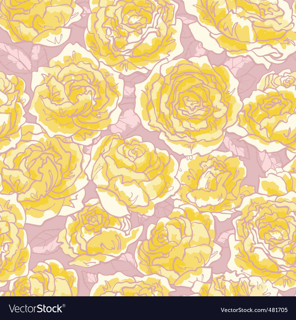 Roses pattern vector | Price: 1 Credit (USD $1)