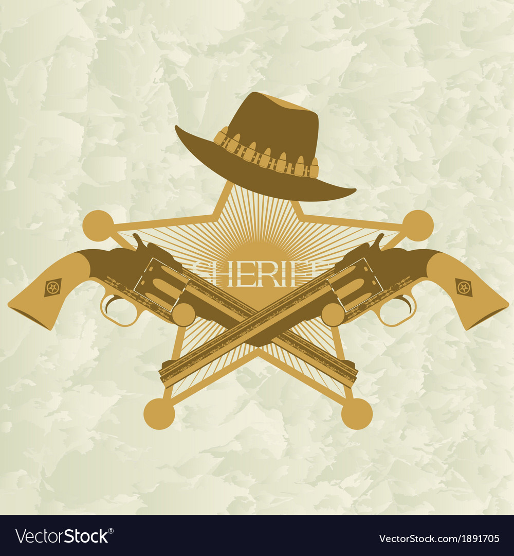 Sheriffs badge-2 vector | Price: 1 Credit (USD $1)