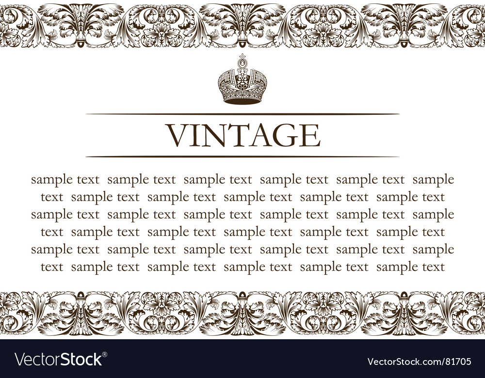 Vintage frame decor line vector | Price: 1 Credit (USD $1)