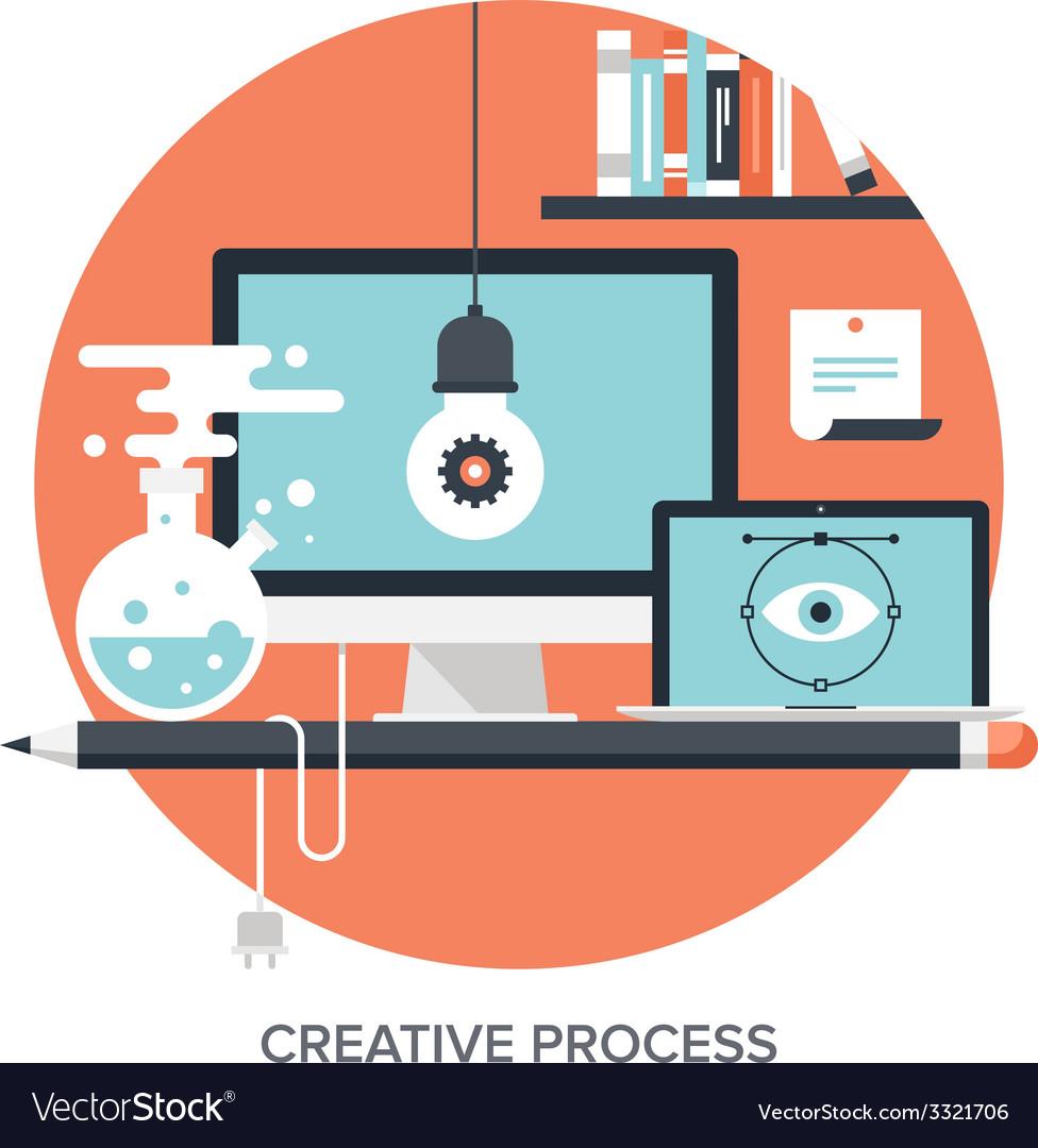 Creative process vector | Price: 1 Credit (USD $1)