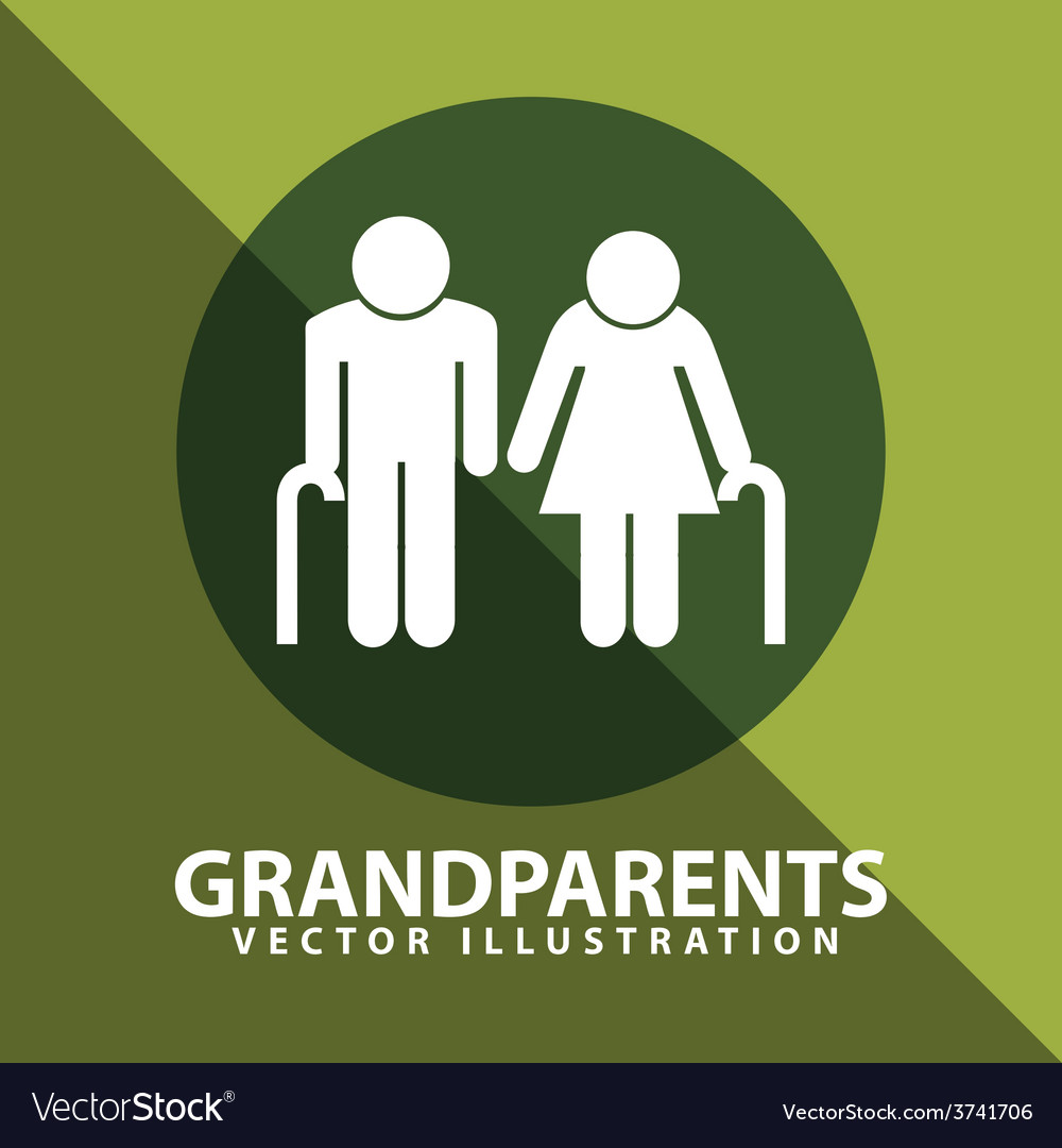 Grandparents silhouettes vector | Price: 1 Credit (USD $1)