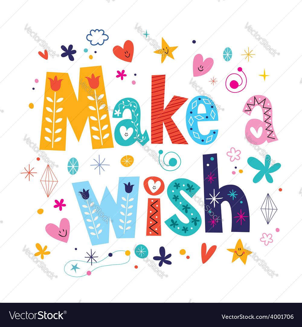 Make a wish vector | Price: 1 Credit (USD $1)