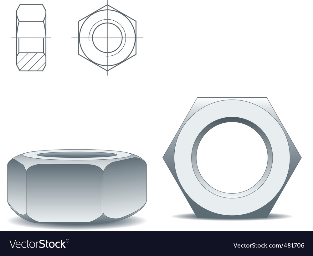 Metal nuts vector | Price: 1 Credit (USD $1)