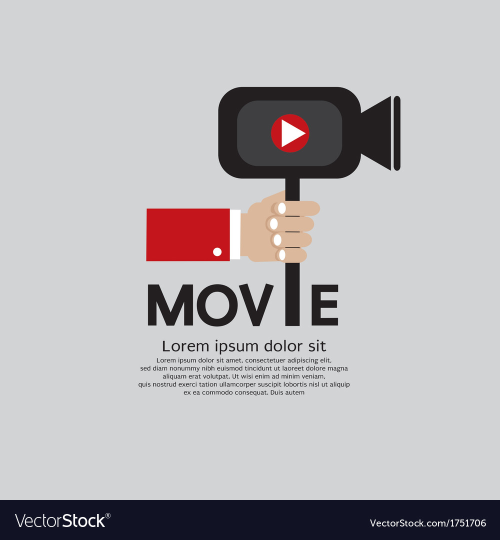 Movie maker eps10 vector | Price: 1 Credit (USD $1)