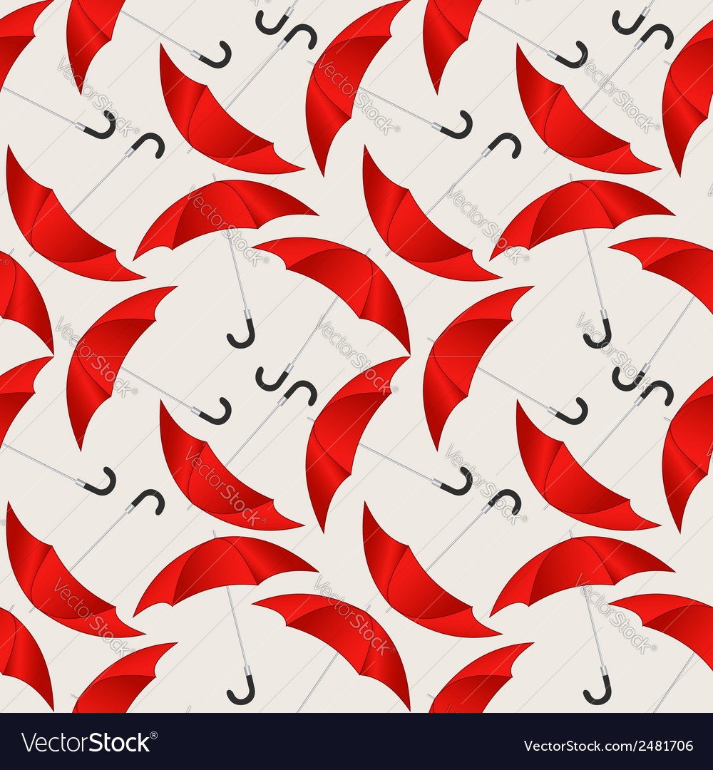 Seamless pattern with red umbrellas vector | Price: 1 Credit (USD $1)