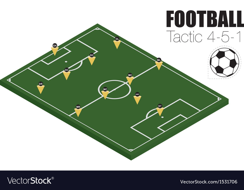 Soccer strategy formation vector | Price: 1 Credit (USD $1)