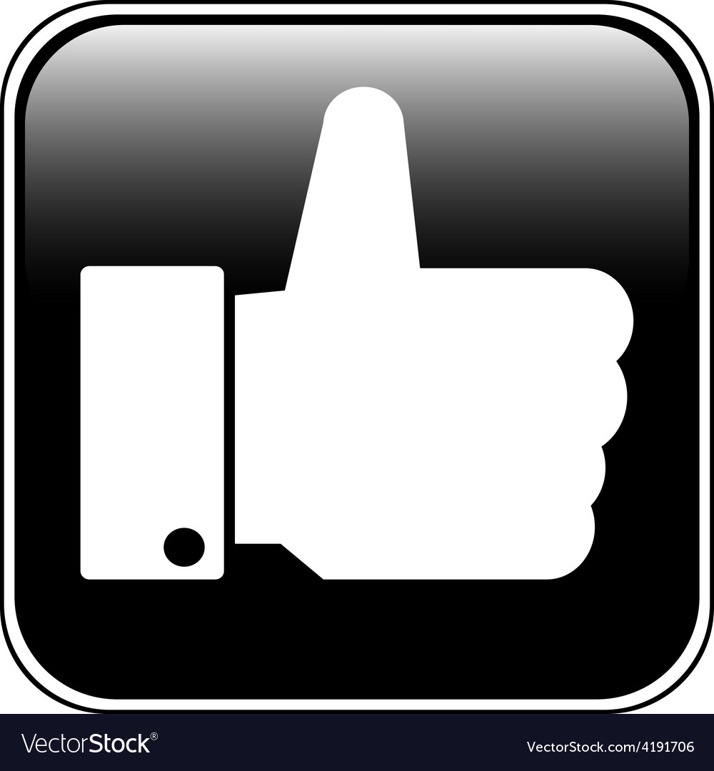 Thumb up button vector | Price: 1 Credit (USD $1)