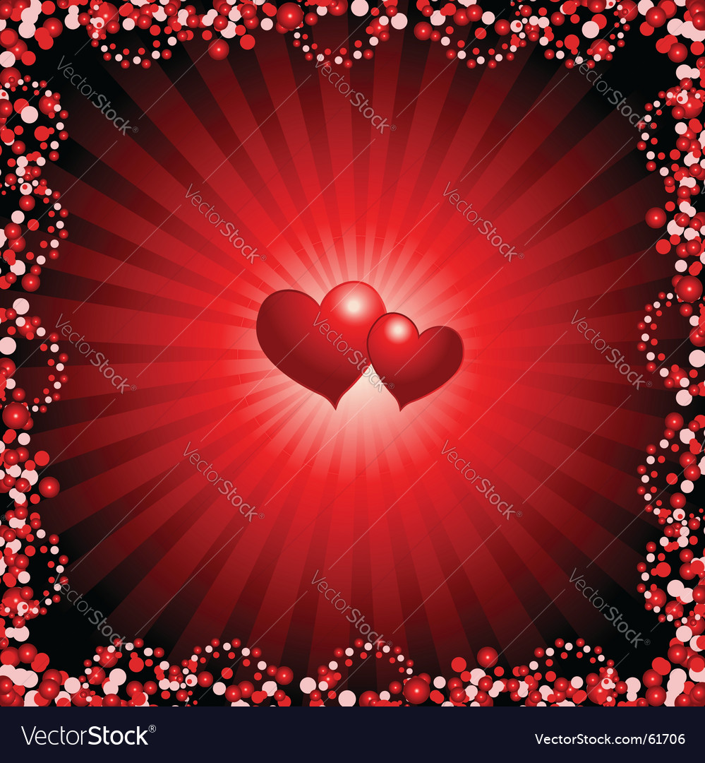 Valentine background vector | Price: 1 Credit (USD $1)