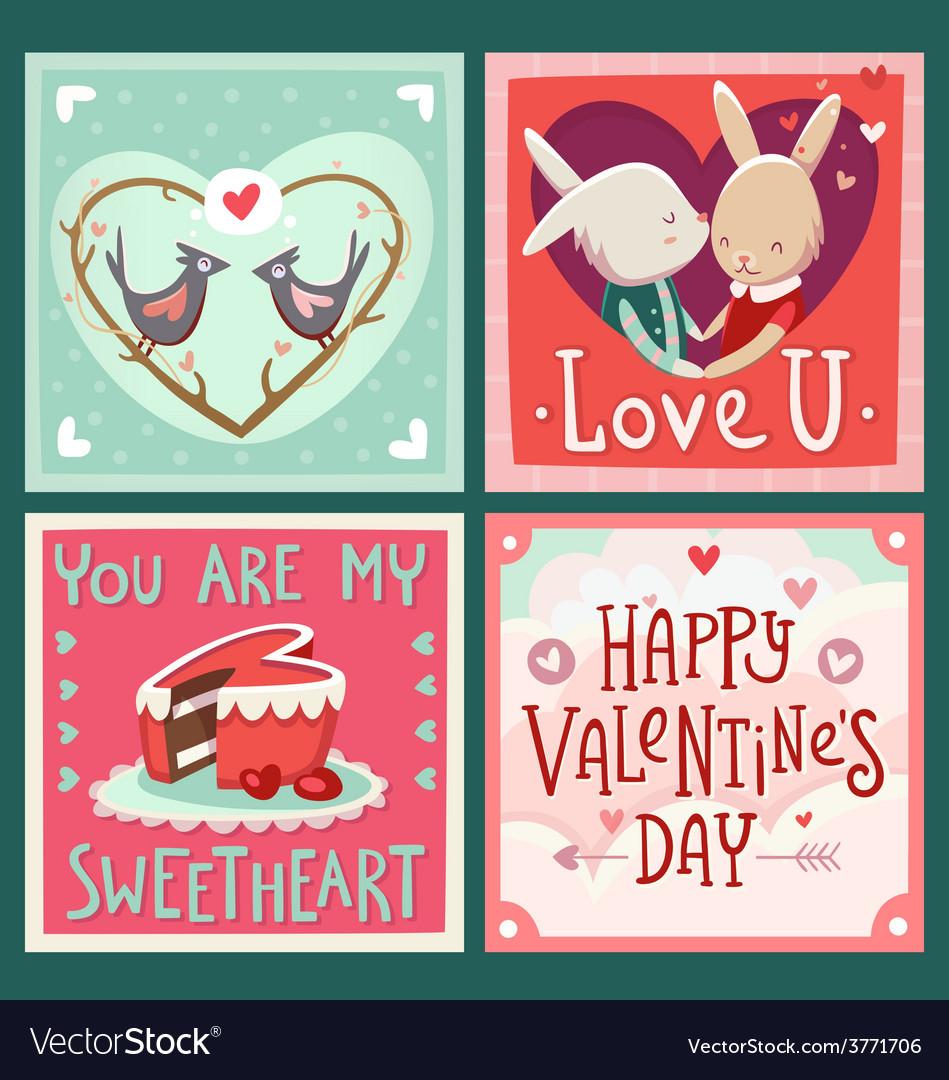 Valentine cards vector   Price: 3 Credit (USD $3)