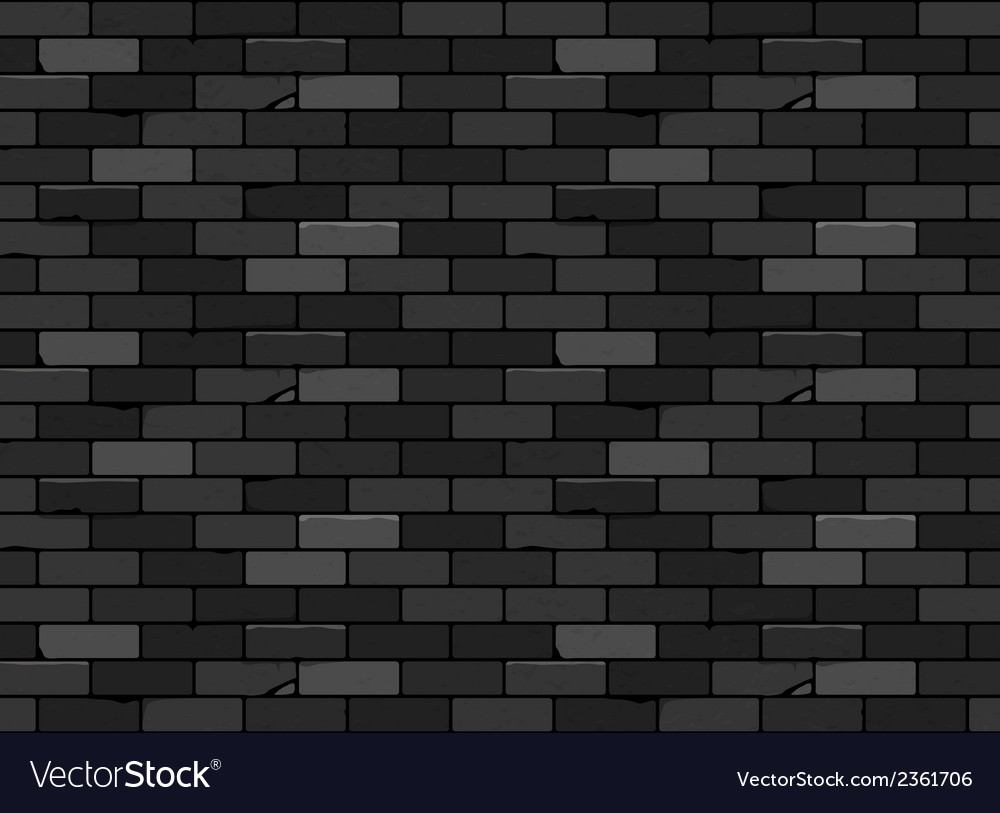 Wall brick seamless pattern black vector | Price: 1 Credit (USD $1)