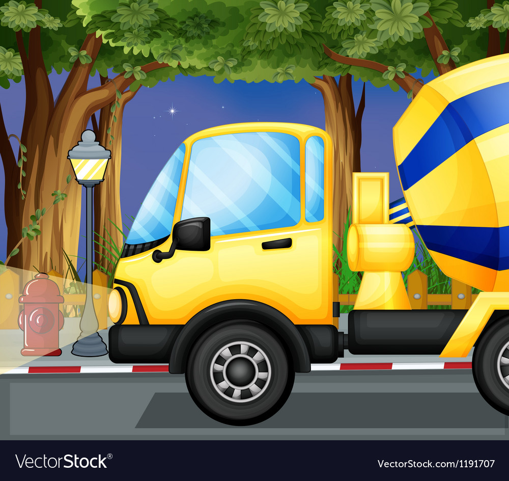 A cement truck vector   Price: 1 Credit (USD $1)