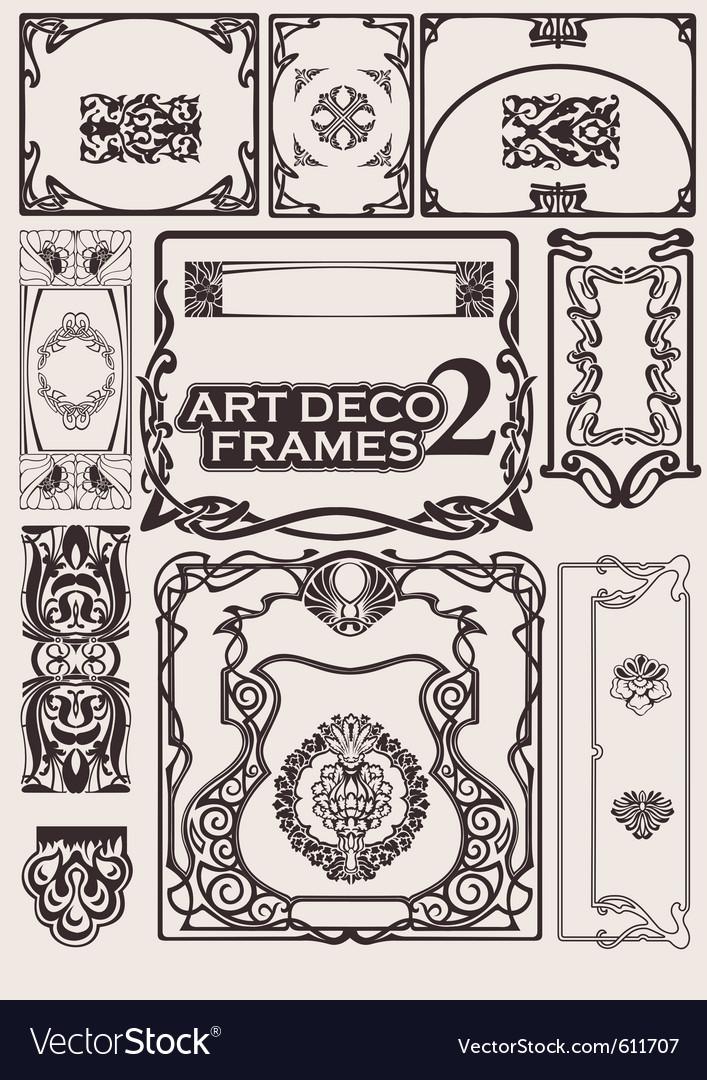 Art deco frames vector | Price: 1 Credit (USD $1)